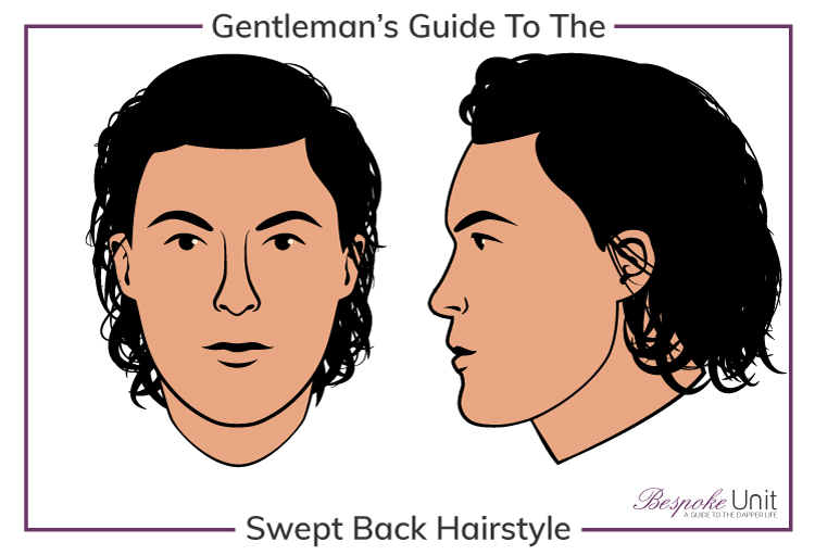 Men's Natural Swept Back Long Hairstyle: Guide To Face Shapes & Styling