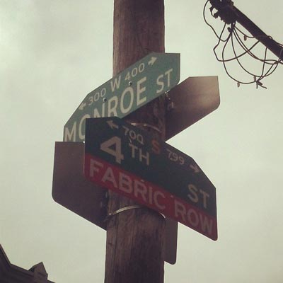 Philadelphia Street Sign In Fabric Row