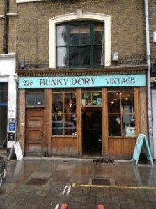 Hunky Dory Vintage Shop Front On Brick Lane