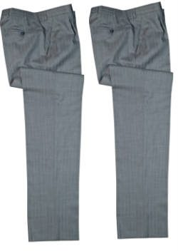 Two pairs of grey suit trousers
