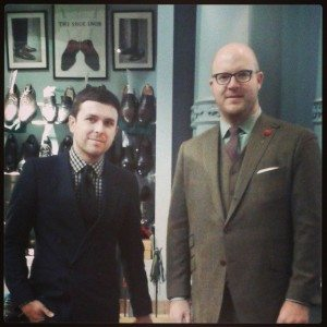 1 Savile Row shop with two men in suits