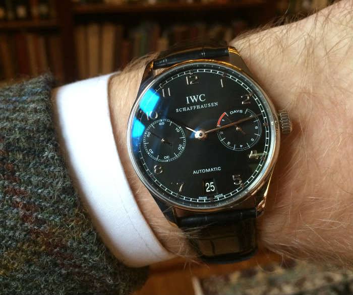 IWC Schaffhausen Watch with black dial