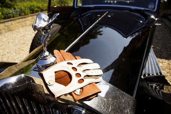 Leather Driving Gloves On RR