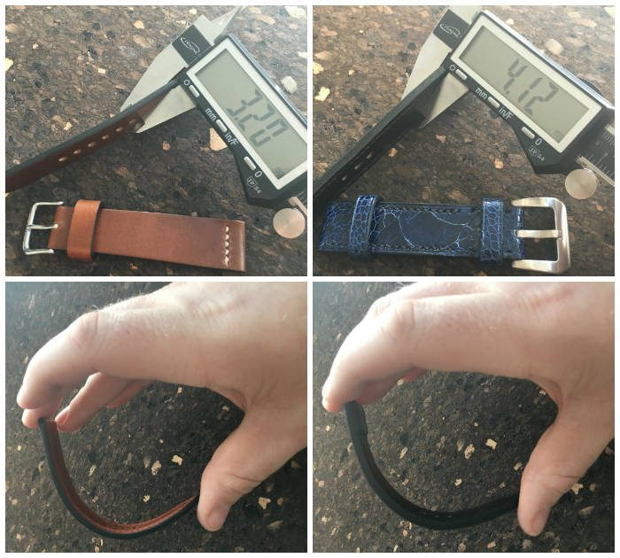 Testing Watch Strap Thickness And Flexability