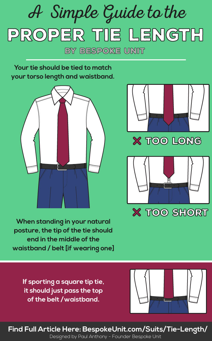 tie length guide learn proper placement to get the