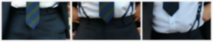 Three Tie Lengths Shown