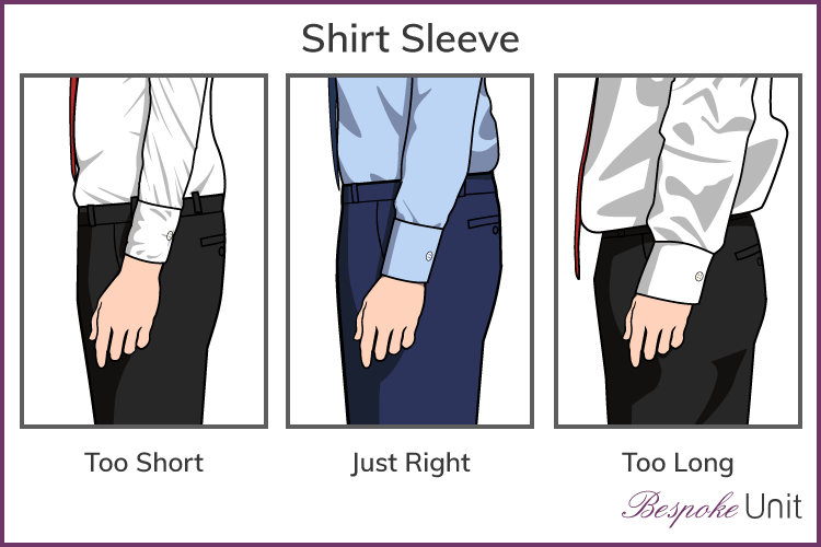 Correct shirt sleeve length graphic