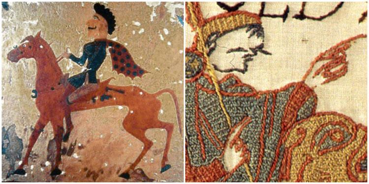Historical Moustaches Pzyrik Hosreman 300BC & Bayeux Tapestry Harold