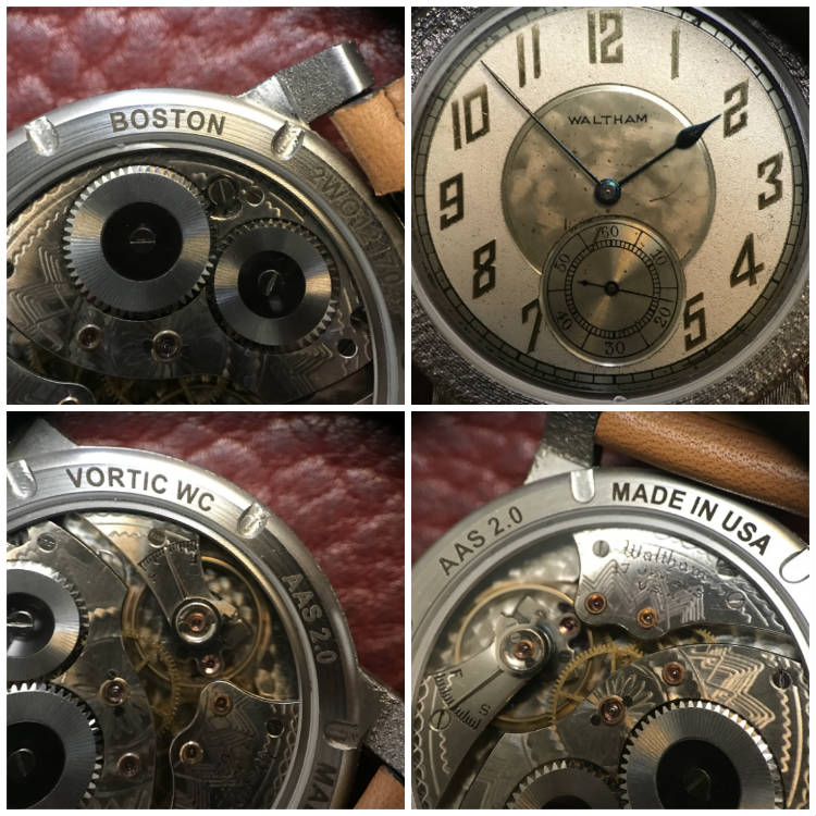 Macro shots of 1935 Hamilton pocket watch movement
