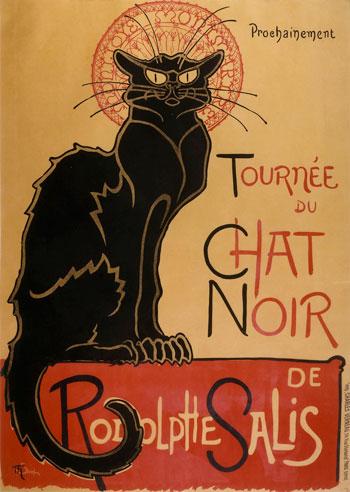bespoke unit tournee du chat noir de rodolphe salis poster