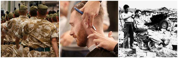 Crew Cut Fade Military Haircut Straight Razor Barber British Allies Okinawa