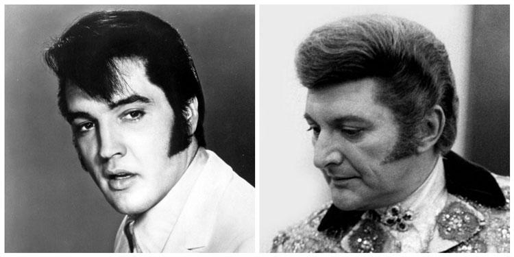 Famous Wide Sideburns Elvis Presley & Liberace