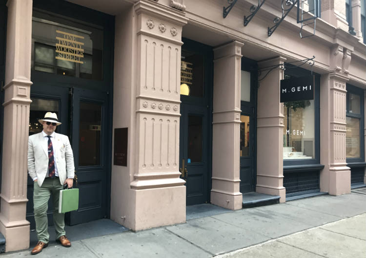 Outside of Material Good showroom NYC