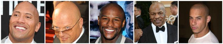 Shaved Head Bald Celebrity Ideas Tyson Rock Diesel Mayweather Chiklis
