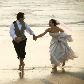Bride-And-Groom-On-Beach