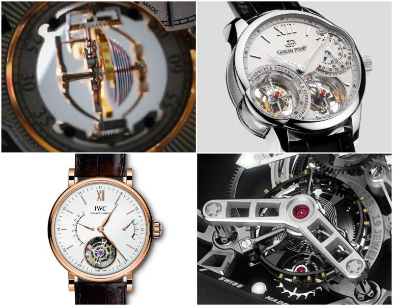 Four different tourbillon watches