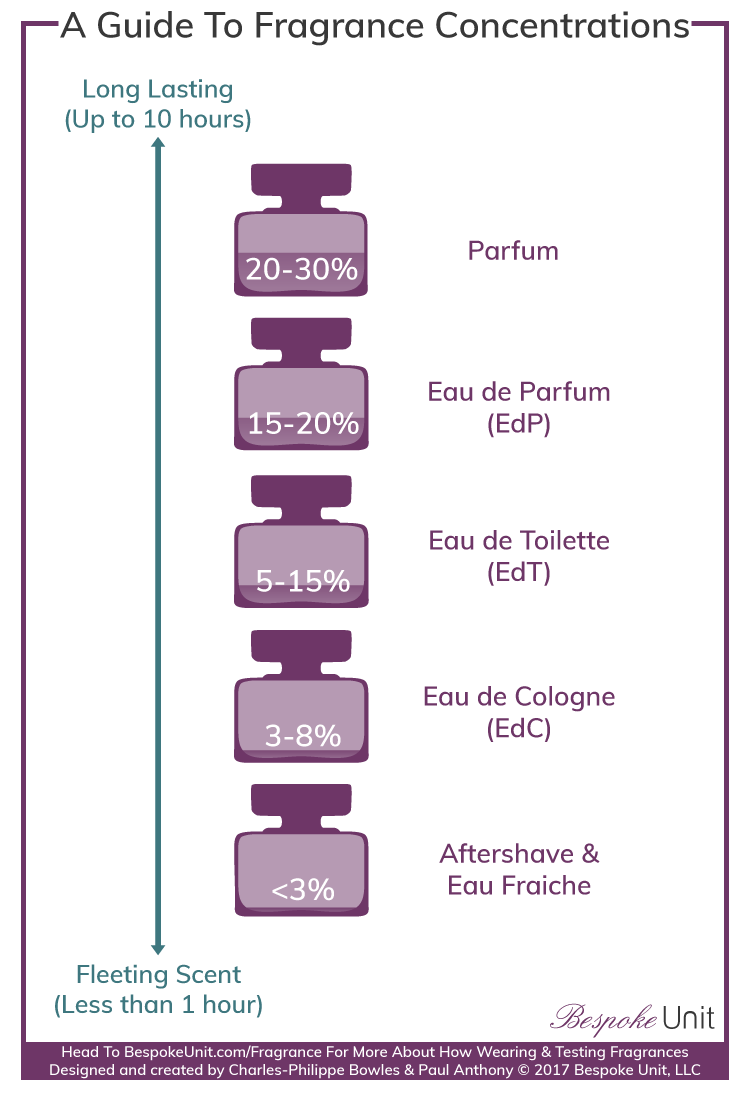 Fragrance Concentration & Strength Infographic Guide