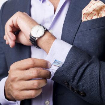 Man Wearing Flashy Accessories