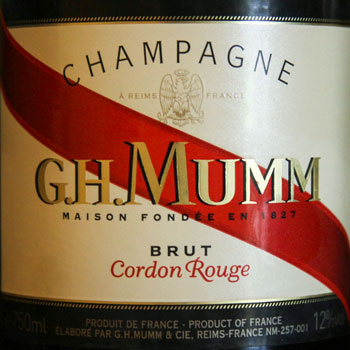 GH Mumm Cordon Rouge Champagne Label
