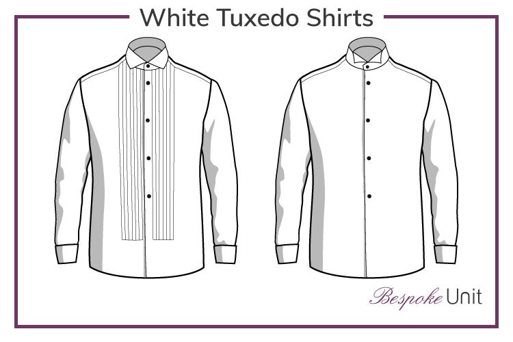 White-Tuxedo-Shirts Graphic