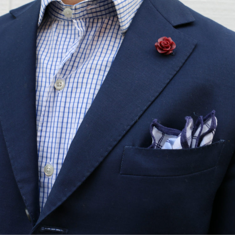 pocket square paired with shirt