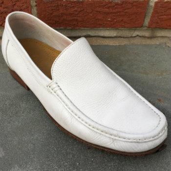 white leather mens venetian loafer