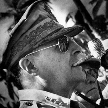 Douglas-MacArthur-Wearing-Aviator-Sunglasses