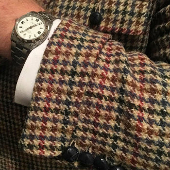 Houndstooth-Jacket-Sleeve Cuff