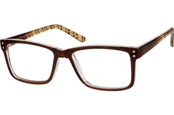 zenni optical brown square glasses