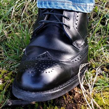 Allen Edmonds Dalton Wingtip Brogue Boots Grass