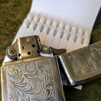 Zippo Lighter & Cardboard Matches